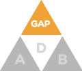 Medigap triangle icon