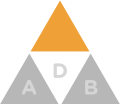 Supplement insurance triangle icon